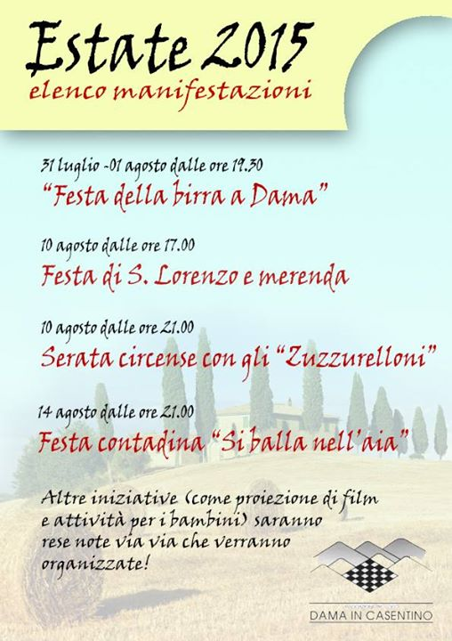 elenco feste dama estate 2015 sagre